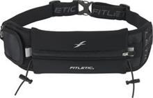 FITLETIC - Juoksuvyö + pieni laukku, geelipidike ja numerolappupidike Musta