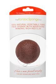 Konjac Sponge Konjac Sponge Premium Facial Puff with French Red Clay
