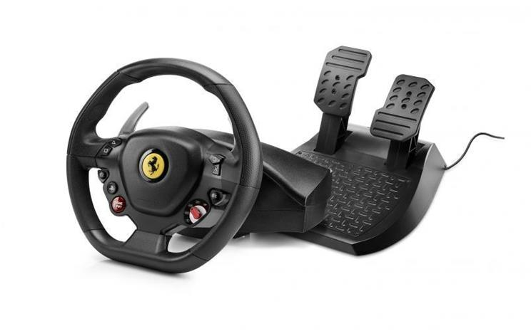 Thrustmaster Ferrari T80 488 GTB Edition, PC/PS4 -rattiohjain