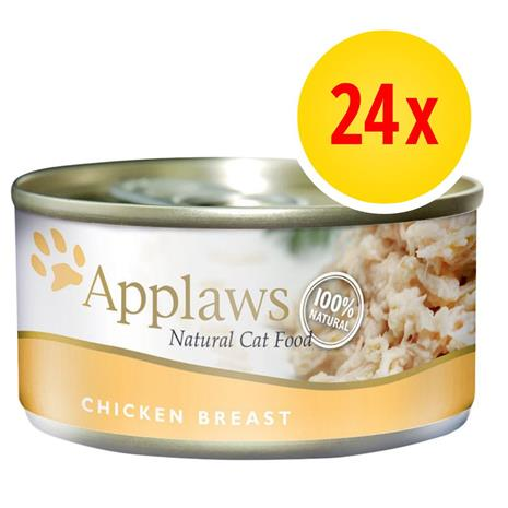 Säästöpakkaus: Applaws in Broth 24 x 70 g - kana & juusto