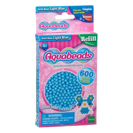 Aquabeads Light Blue Solid Bead Pack