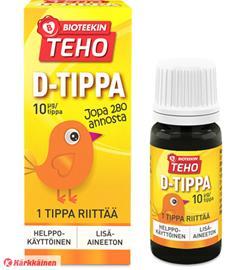 Bioteekin Teho D-tippa 8 ml ravintolisä