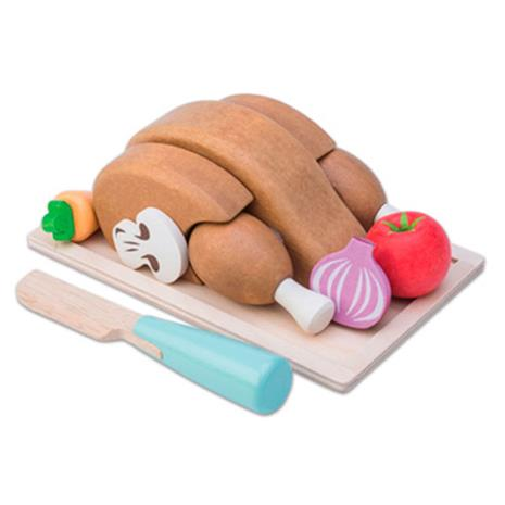 Le Toy Van - Chicken Sunday Roast with Tray & Knife Playset