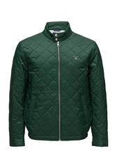 GANT O1. The Quilted Windcheater PINE GREEN