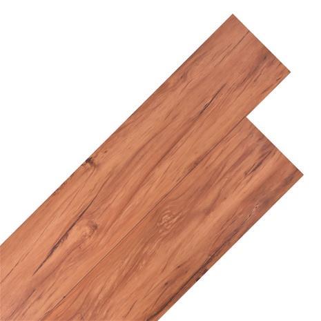vidaXL PVC-lattialankut 18 kpl 5,26 m² Lämmin ruskea