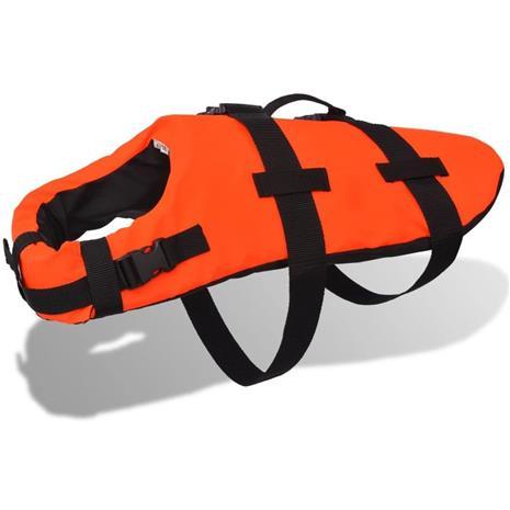 vidaXL Koiran pelastusliivit M Oranssi