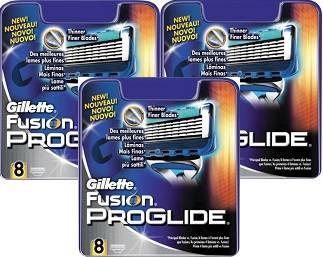 Gillette Fusion ProGlide, vaihtoterät 24 kpl