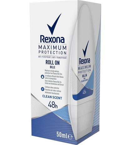 Rexona Maximum Protection FW Clean Scent 50 ml roll on deodorantti