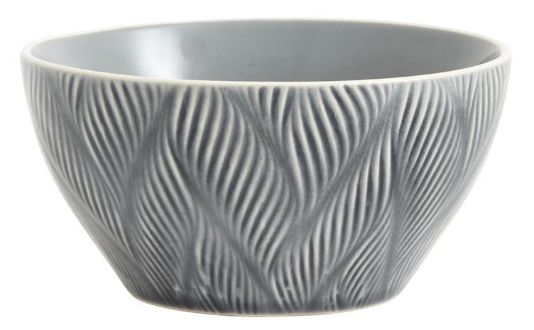 Skål LEAF Ø 13 cm - Grå, Bowls