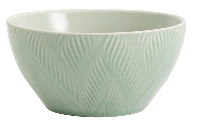 Skål LEAF Ø 13 cm - Ljusgrön, Bowls