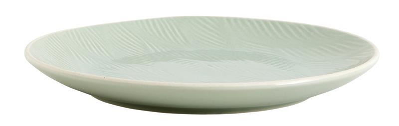 Tallrik LEAF Ø 25 cm - Ljusgrön, Plates