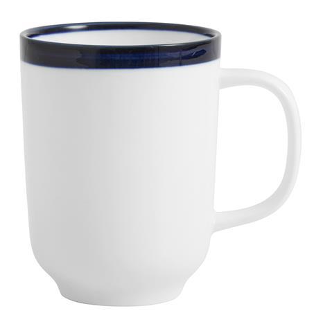 Mugg BLUE RIM Ø 8 cm - Vit/Blå, CoffeeAndTeaMug