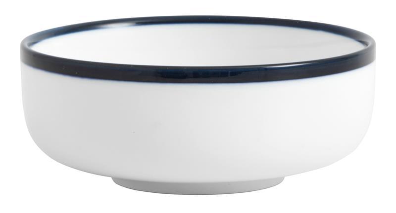Skål BLUE RIM Ø 12 cm - Vit/Blå, Bowls