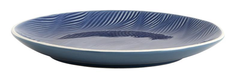 Tallrik LEAF Ø 25 cm - Blå, Plates