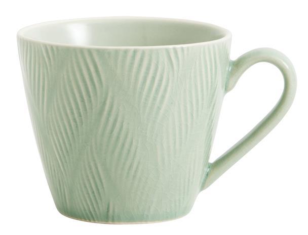 Kopp LEAF Ø 12 cm - Ljusgrön, CoffeeAndTeaMug