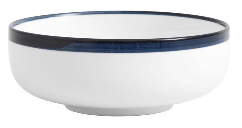 Salladsskål BLUE RIM Ø 15 cm - Vit/Blå, Bowls