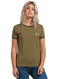Volcom Keep Goin Ringer T-Shirt dark camo Naiset