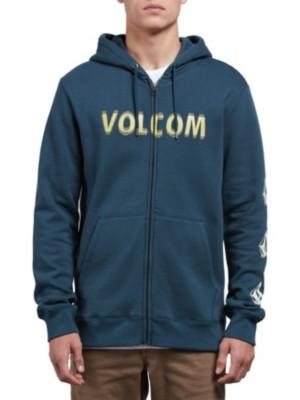 Volcom Supply Stone Zip Hoodie navy green Miehet