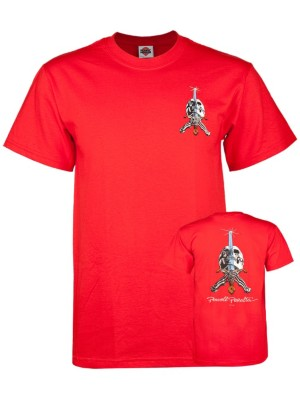 Powell Peralta Skull & Sword T-Shirt red Miehet