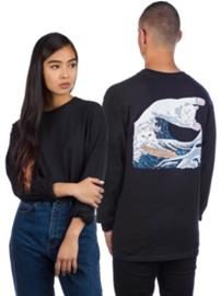 Rip N Dip Great Wave T-Shirt LS black Miehet