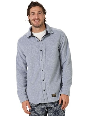Burton Spillway Fleece Shirt LS gray heather Miehet