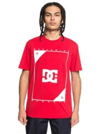 DC Middle Theory T-Shirt tango red Miehet
