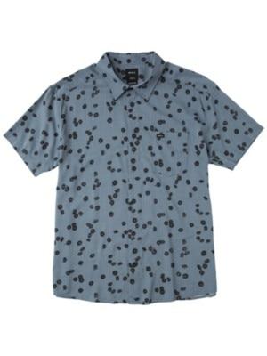 RVCA Od Floral Shirt blue slate Miehet