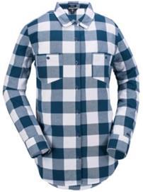 Volcom Granite Flannel Shirt snow vintage navy Naiset