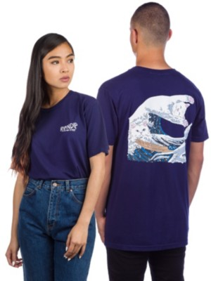 Rip N Dip Great Wave T-Shirt navy Miehet