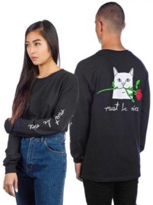 Rip N Dip Romantic Nerm T-Shirt LS black Miehet
