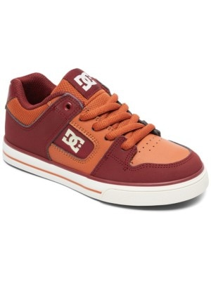 DC Pure Sneakers Boys burgundy / tan Jätkät