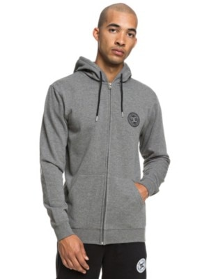 DC Rebel Zip Hoodie charcoal heather Miehet