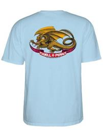Powell Peralta Oval Dragon T-Shirt lightblue Miehet