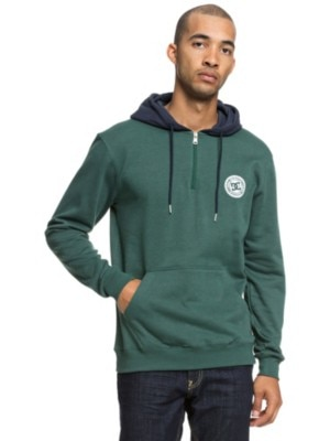 DC Rebel Half Zip Hoodie hunter green Miehet