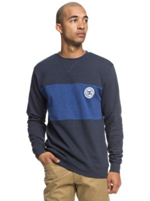 DC Rebel Block Crew Sweater black iris Miehet
