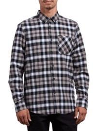 Volcom Caden Plaid Shirt LS black Miehet