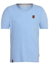 Naketano Gelinde Gesagt T-Shirt amazing blue melange Miehet