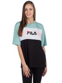 Fila Shannon T-Shirt aquofer / bright white / blac Naiset