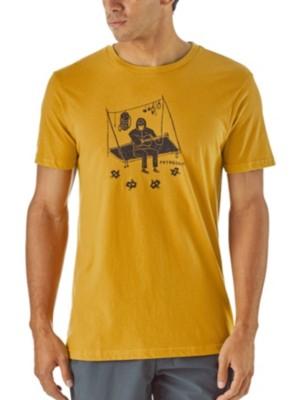 Patagonia Portaledge Concert Organic T-Shirt yurt yellow Miehet