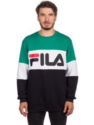 Fila Straight Crew Sweater black / bright white / shady Miehet