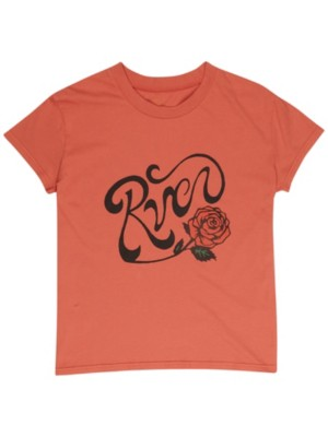 RVCA Bloom T-Shirt red clay Naiset