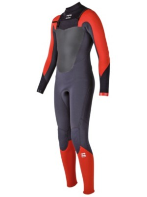 Billabong Absol. Comp 3/2 Chest Zip Wetsuit Youth orange