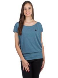 Naketano Wolle T-Shirt pool blue melange Naiset