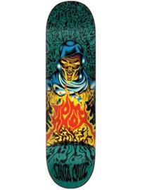 "Santa Cruz Knox Firepit Pop 8.5"""" Skate Deck blue / yellow"