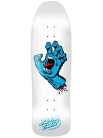 Santa Cruz Screaming Hand Shape 9.35 Skate Deck white