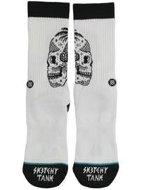 Stance X Sketchy Tank Skull Palm Socks white Miehet
