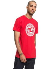 DC Circle Star T-Shirt tango red Miehet