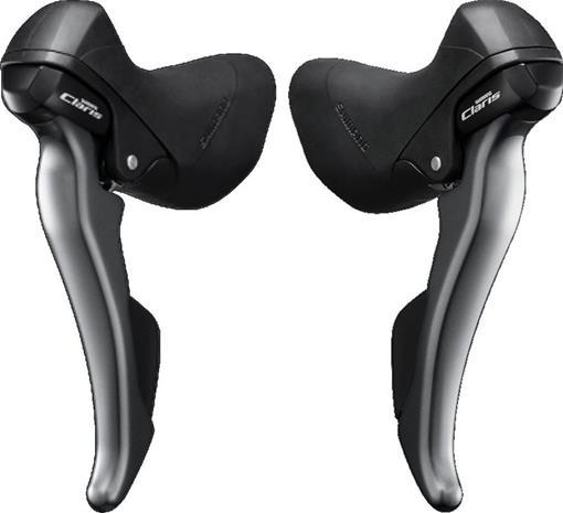 Shimano Claris ST-R2000/-R2030 Vaihdevipusetti pari, 2x8-vaihteinen , harmaa/musta