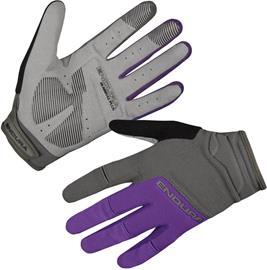 Endura Hummvee Plus II Naiset Pyöräilyhanskat , harmaa/violetti