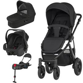 Baby Smile Black Stroller Package